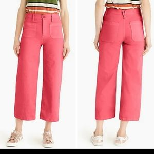J. Crew Point Sur Washed Wide Leg Crop Pant NWT 31